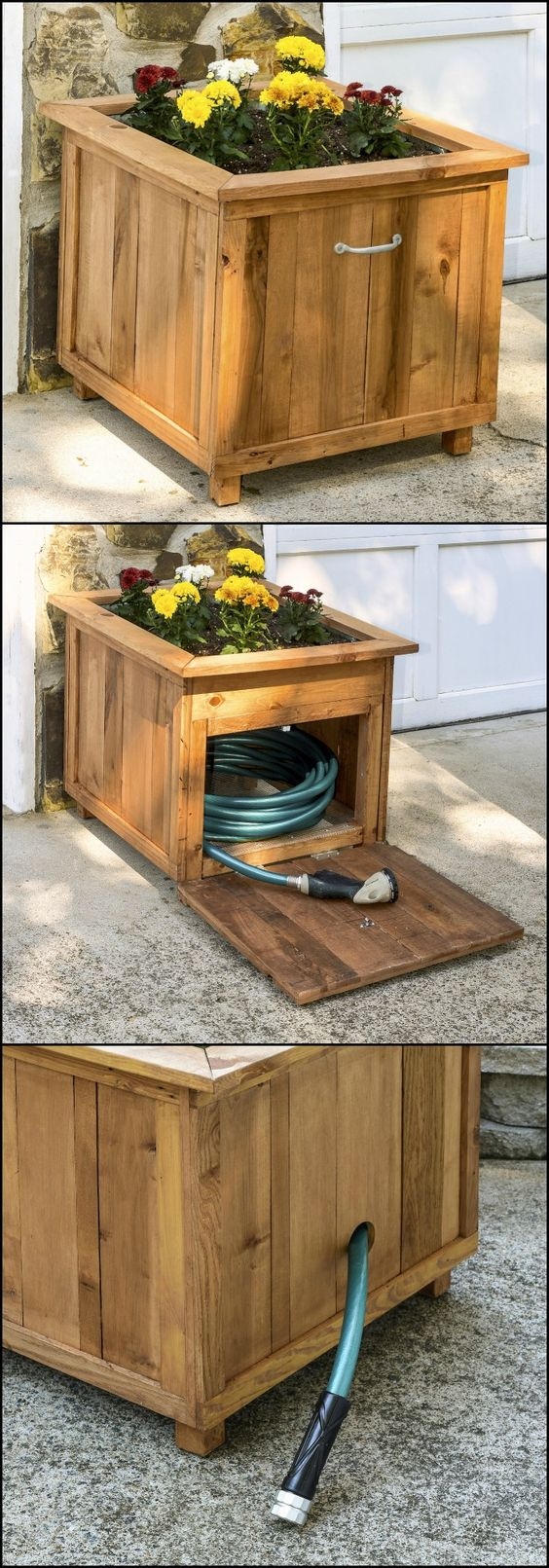 Hide Your Hose With a DIY Planter.