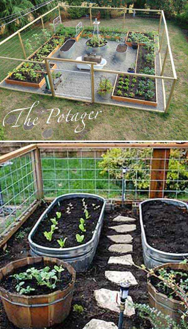 Creative Gardening Ideas 30 creative gardening ideas you need to know 2017 use metal trough as container for vegetable garden and install a path between your veggies sisterspd