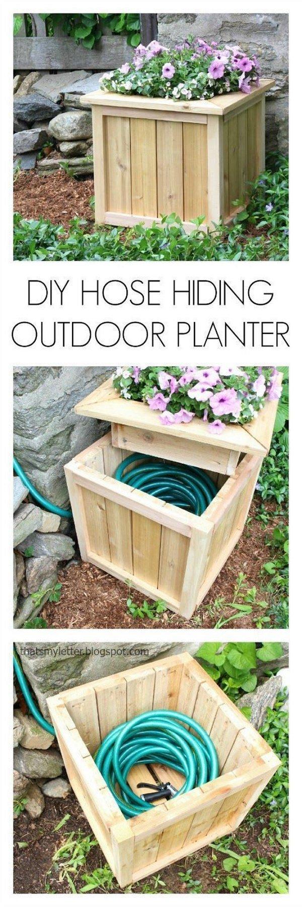 Hide Your Hose in a DIY Planter.