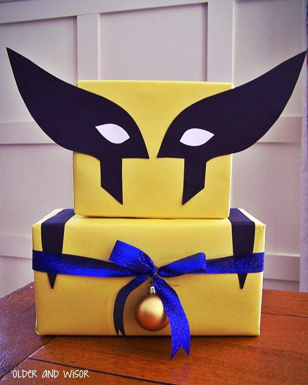 DIY X-Men Gift Wrap.