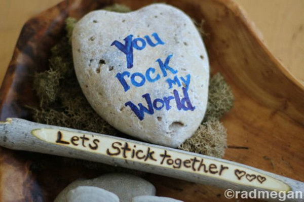 DIY Sticks and Stones Valentines Day Crafts