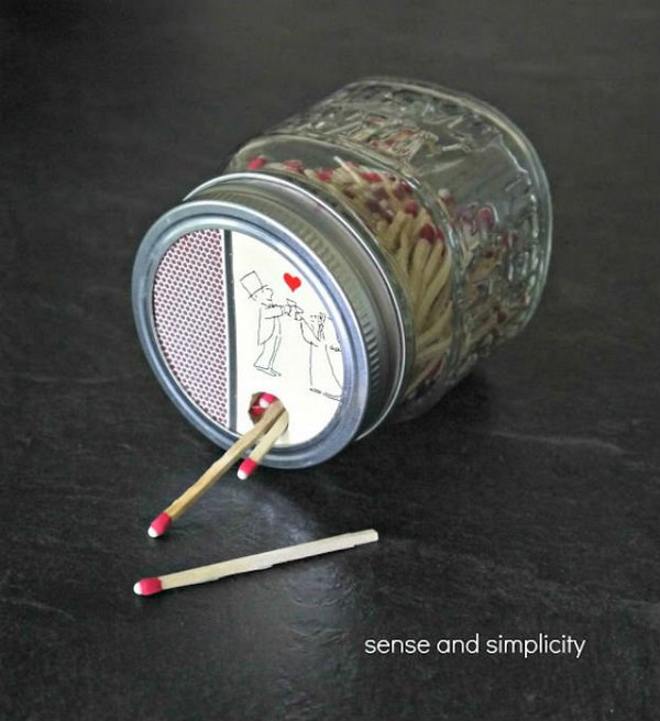 DIY Mason Jar Matchbox