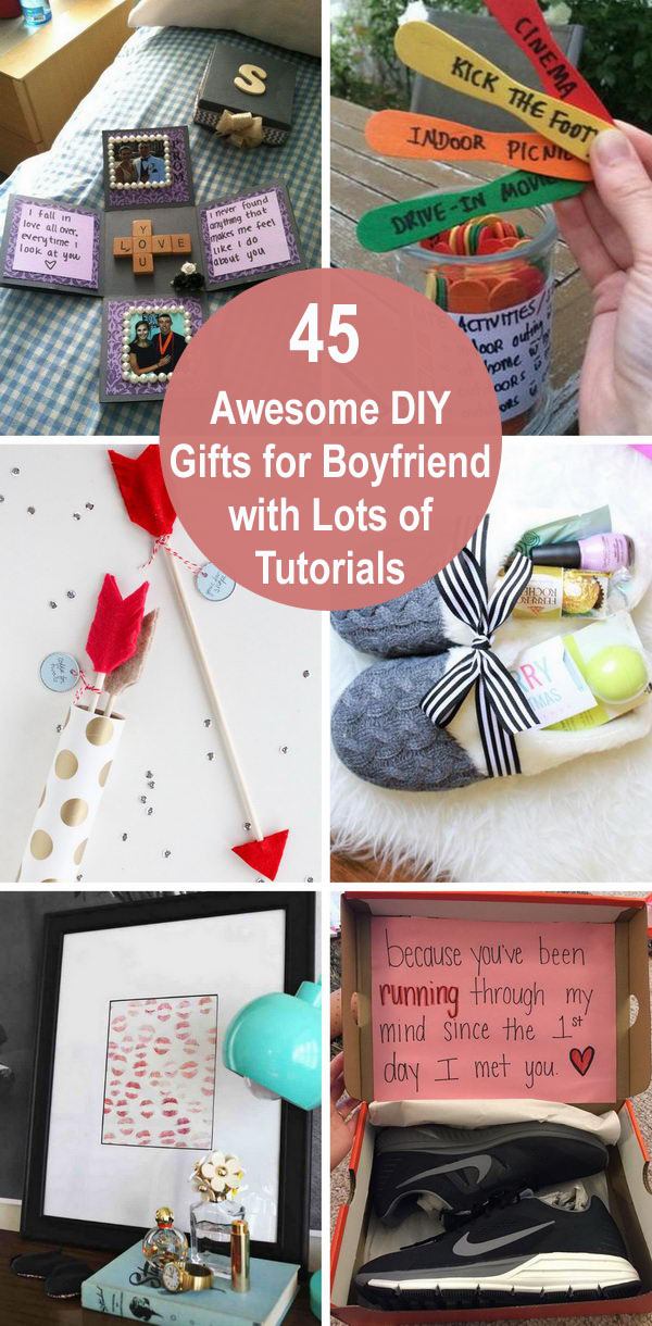 45 Awesome DIY Gifts For Boyfriend With Lots Of Tutorials.