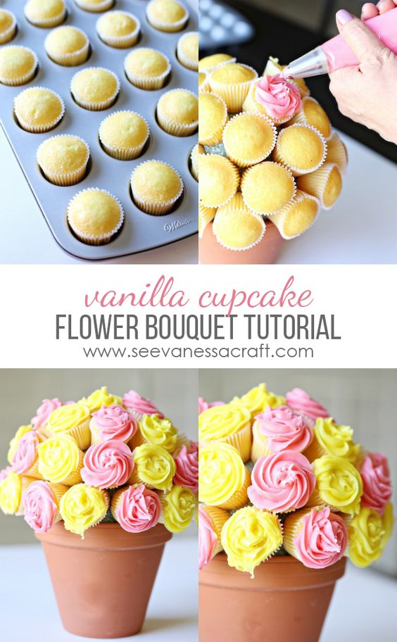 DIY Cupcake Flower Pot.