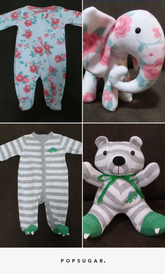 Cute Gift Made Out Of Baby's Old Onesies.