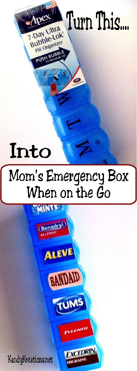 Mom's Emergency Box When On The Go.