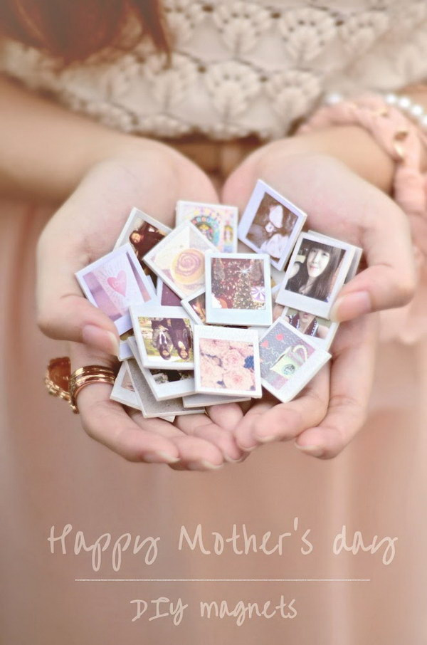 DIY Mini Photo Magnets.