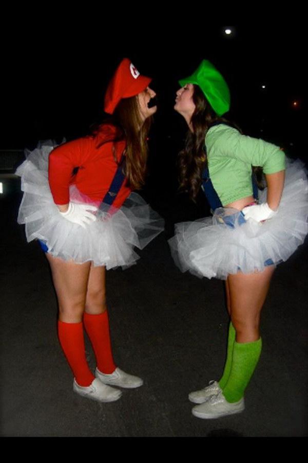 Mario and Luigi Halloween Costumes & 40 Girlfriend Group Halloween Costume Ideas 2017