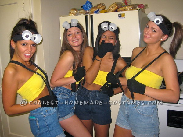 40 girlfriend group halloween costume ideas 2017 diy minions costumes solutioingenieria Image collections