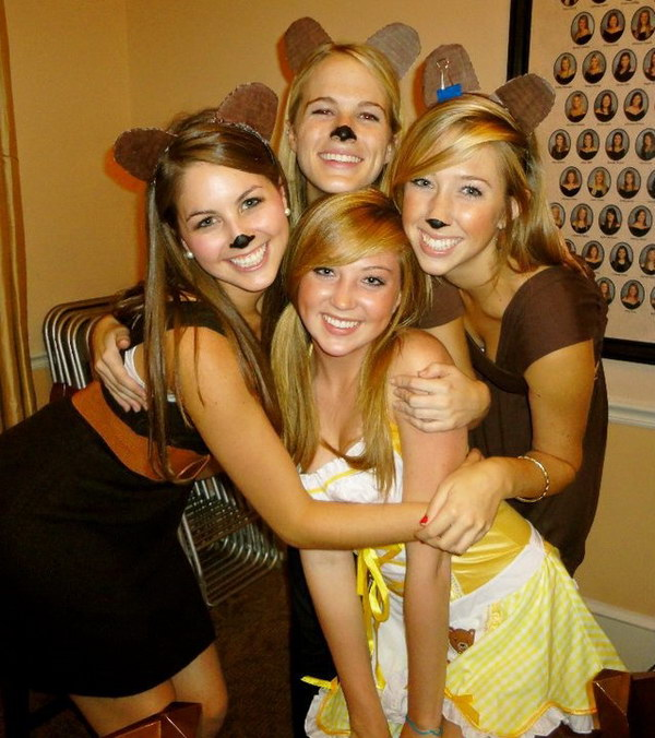 Goldilocks and the Three Bears Costumes  sc 1 st  Crafts Booming & 40 Girlfriend Group Halloween Costume Ideas 2017