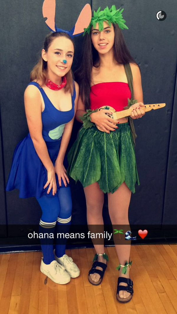 Disney Lilo and Stich Halloween Costumes.  sc 1 st  Crafts Booming & 40 Girlfriend Group Halloween Costume Ideas 2017