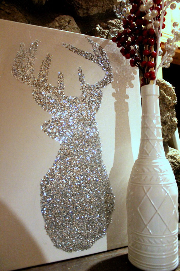 Christmas Decor--DIY Bright Sparkly Reindeer.