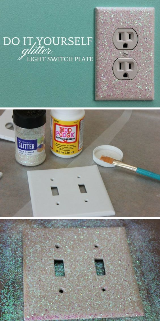 Glitter Light Switch Plates And Outlet Covers.