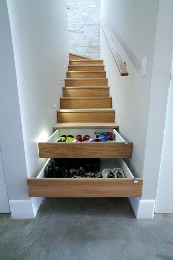 Stairs Drawers Hidden Storage.
