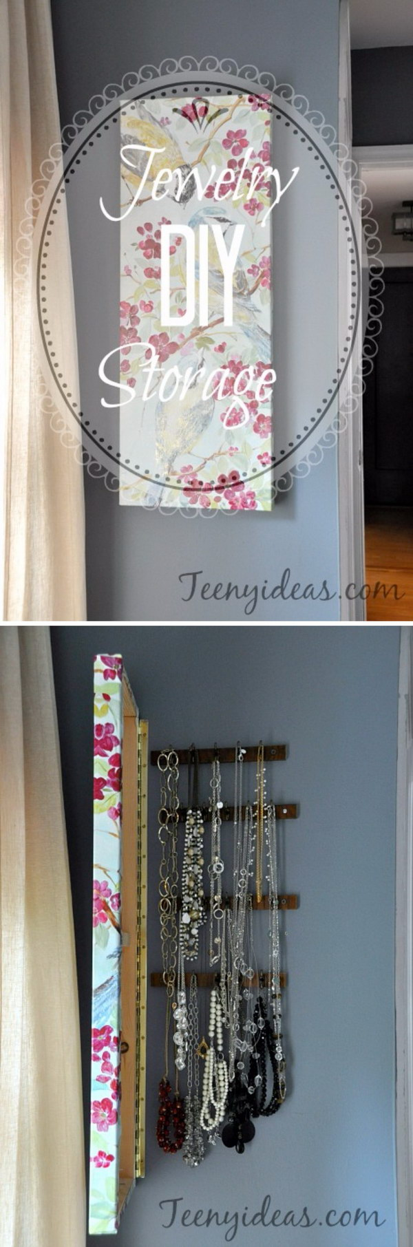 DDIY Hidden Jewelry Storage Behind Wall Canvas.