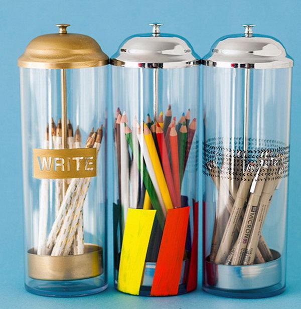 Pop-Up Pencil Holders.