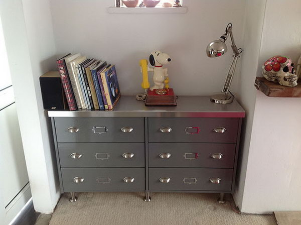 Faux Steel Office Desk. Get the directions