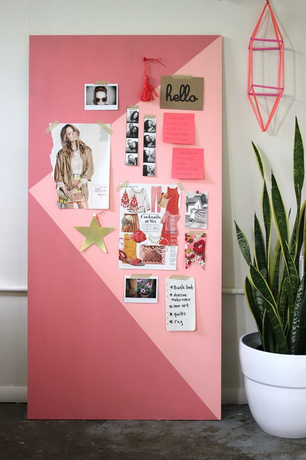 Color Blocked Mood Board. Check out the tutorial