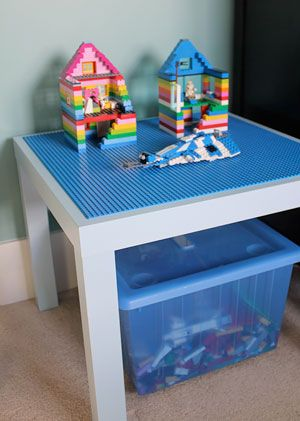 Lego Table Made Out Of an IKEA Lack Table.