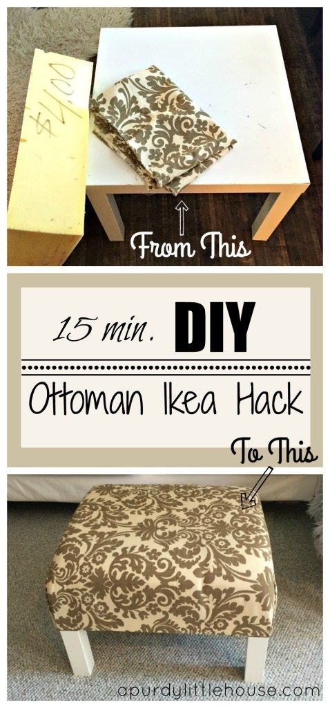 This Easy DIY Ottoman Only Took 15 Minutes.