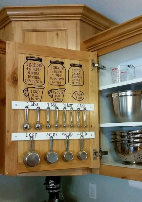 Make Use Of The Cabinet Door And Keep Your Kitchen Tools Easy To Get To.