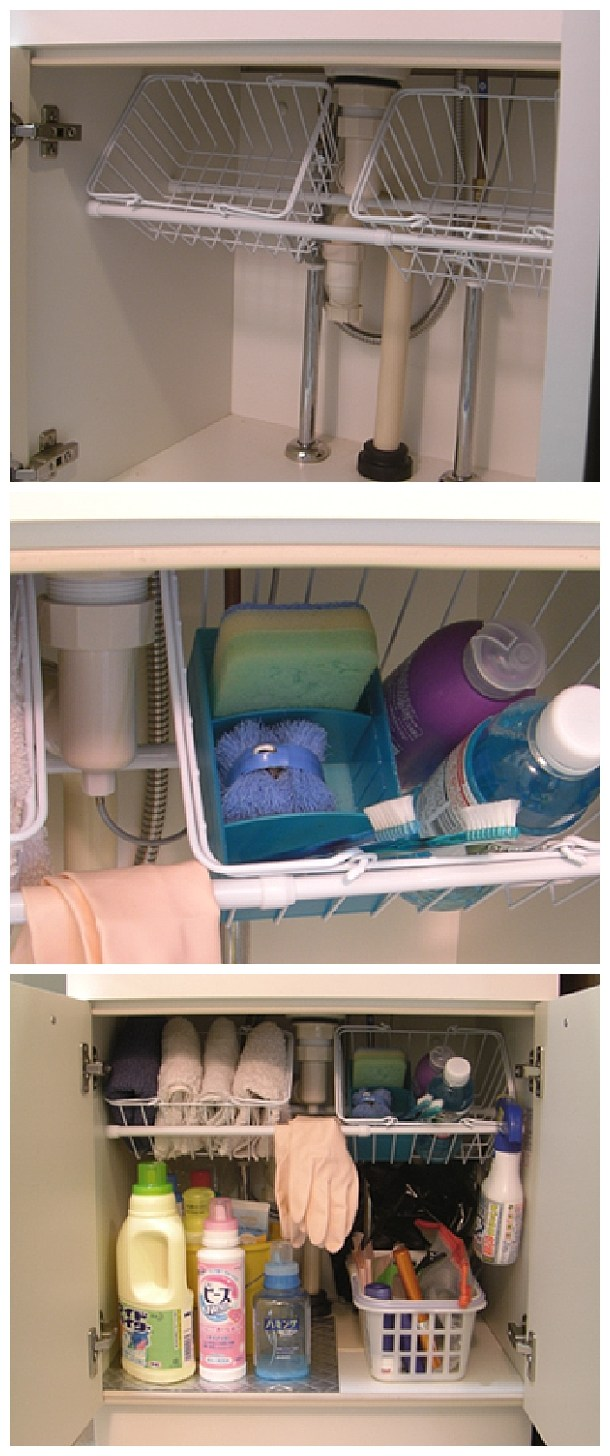 Make Use Of The Storage Space Under Sink.
