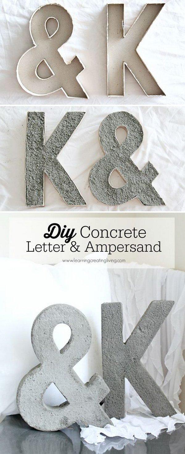 DIY Concrete Letters.