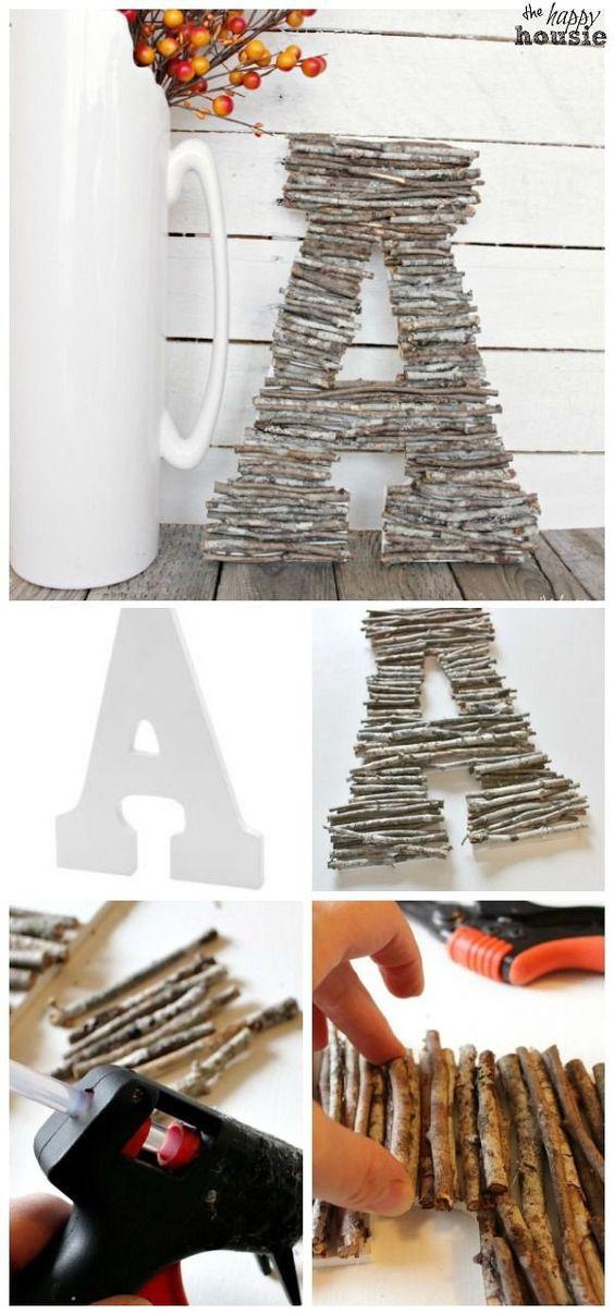 DIY Twig Letters.