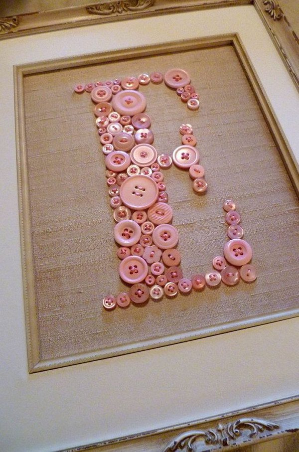 DIY Button Letters.