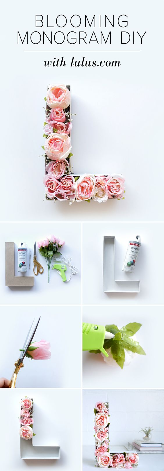 Blooming Monogram DIY.