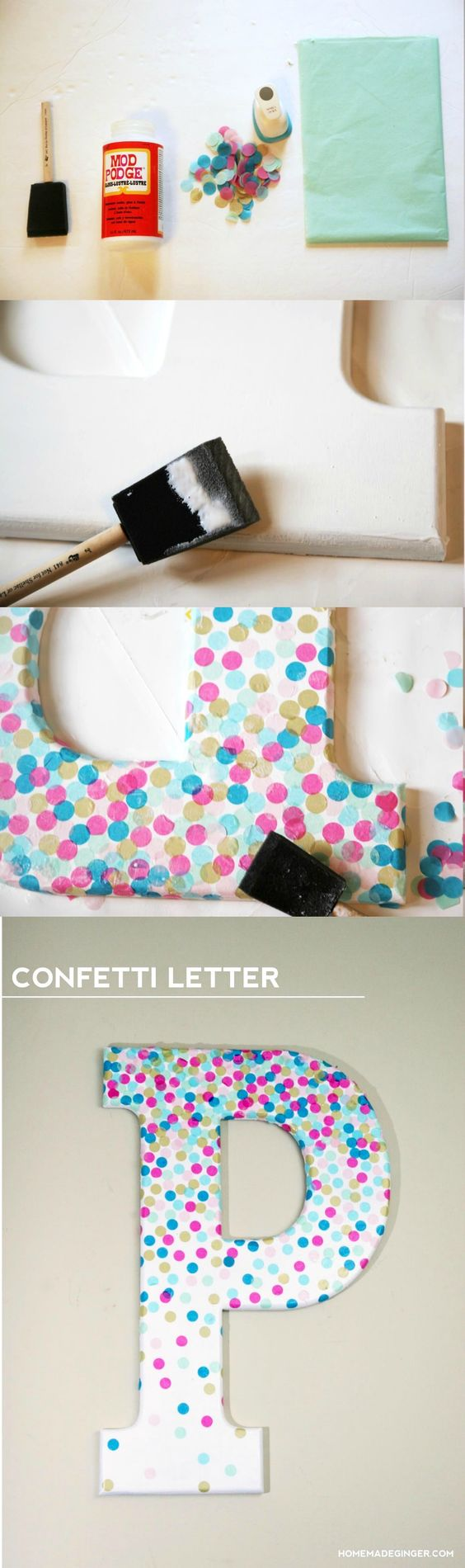 Confetti Decorative Letters For Wall Decor.