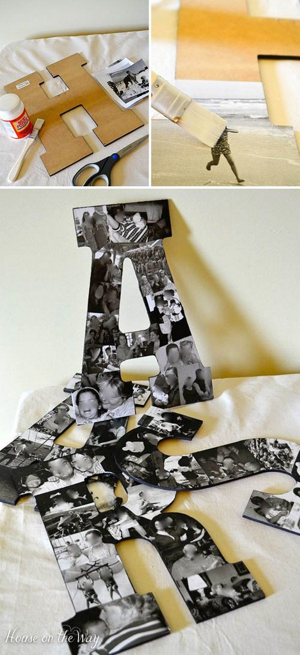 DIY Photo Collage Letters.