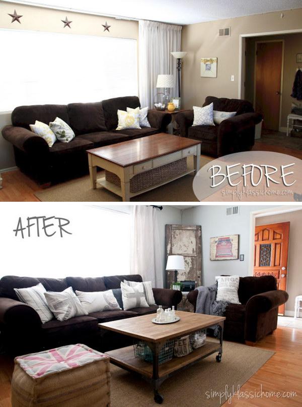 Industrial Blend Living Room Makeover Reveal.