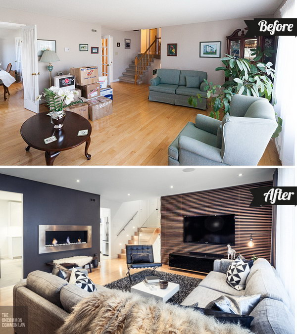 20 awesome before and after living room makeovers - Before and after living rooms ...
