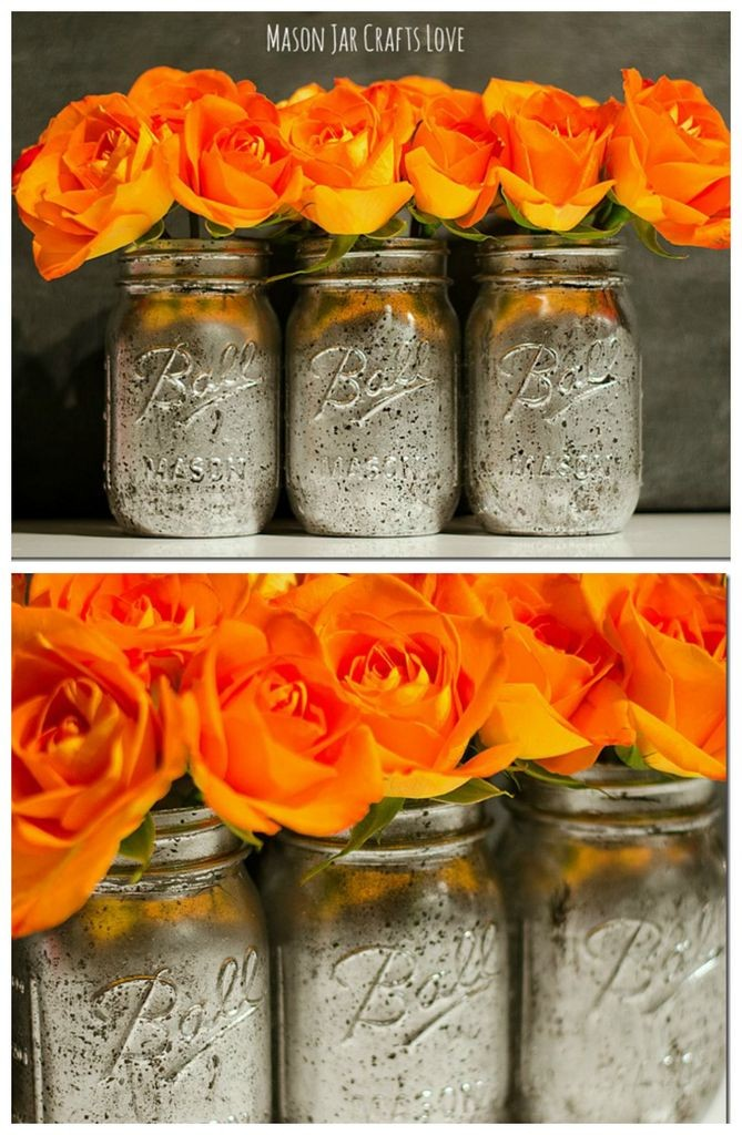 Mercury Glass Mason Jars Tutorial