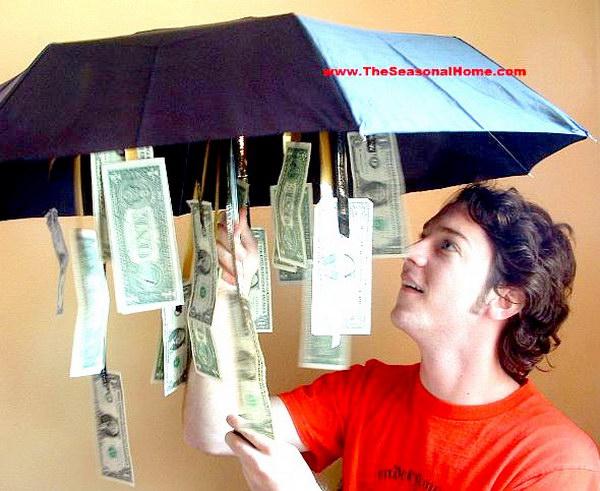 Rainy Day Cash Umbrella.