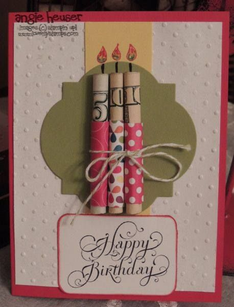 DIY Money Candles Card.