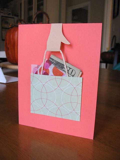 Shopping Bag Money Card.