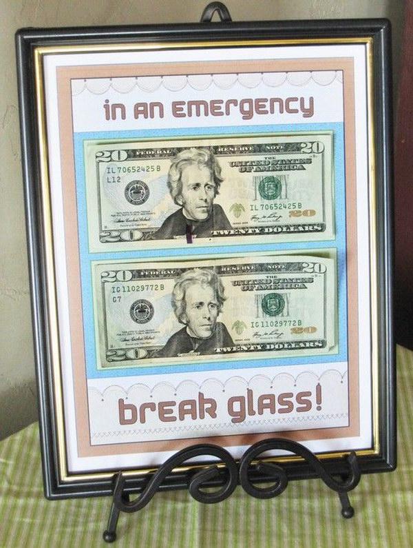 In an Emergency Cash Frame.