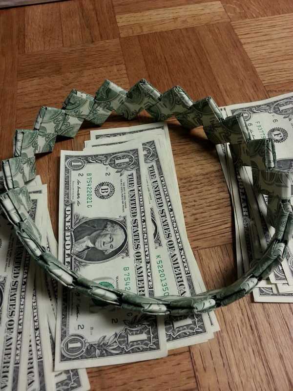 Eay DIY Money Headband .