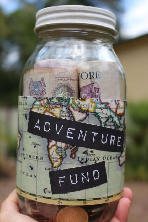 Adventure Fund Jar.