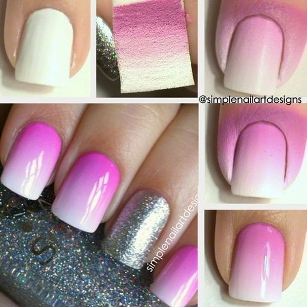 30 easy and fun nail art tutorials 2017 ombre nail art prinsesfo Image collections