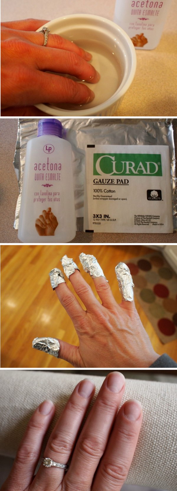 How You Remove a Gel Manicure At Home.