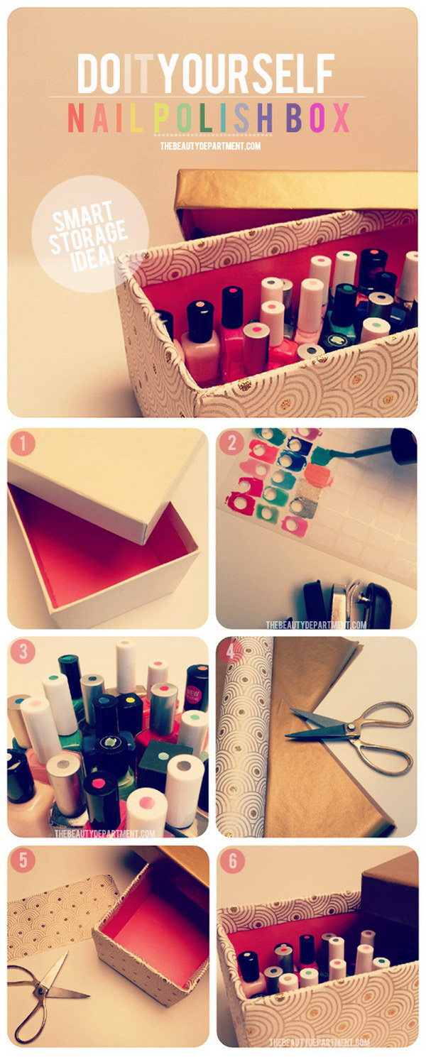The Smart Way to Store Your Nail Polish.