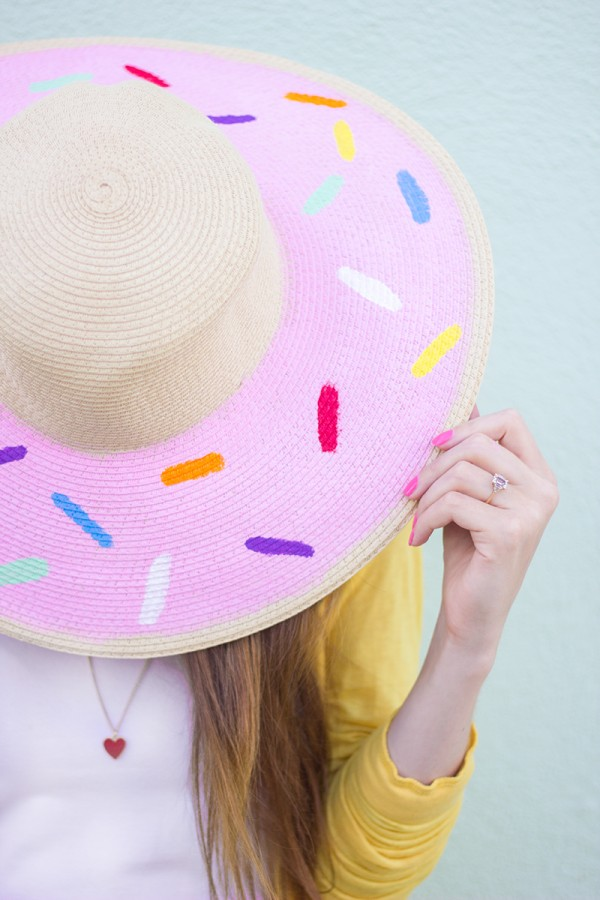 Upgrade your Plain Floppy Hat to Cute Donut Floppy Hat With Nail Polish.