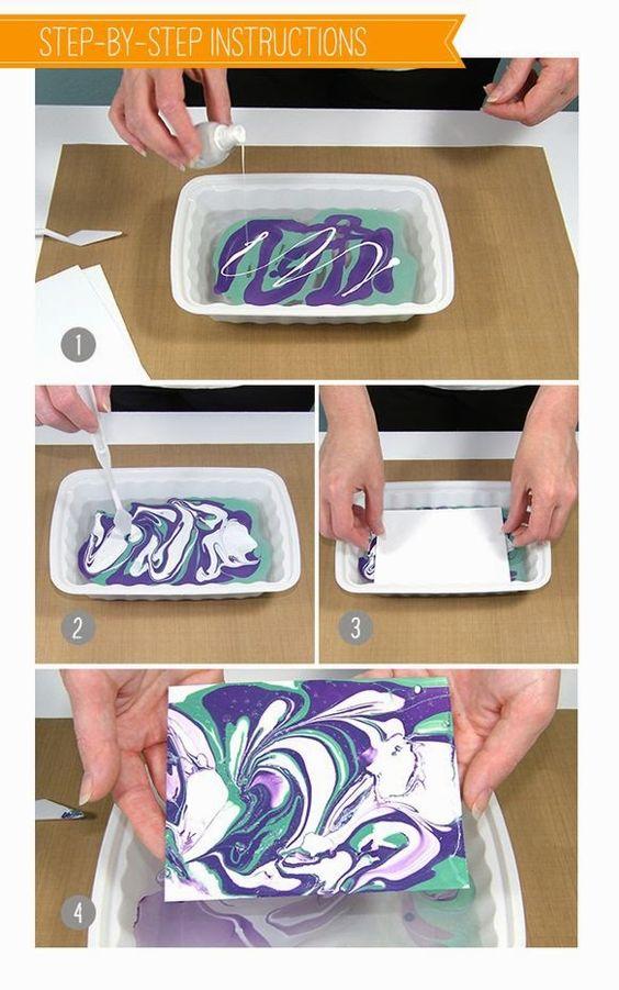 Paper Craft Using Nail Polish.