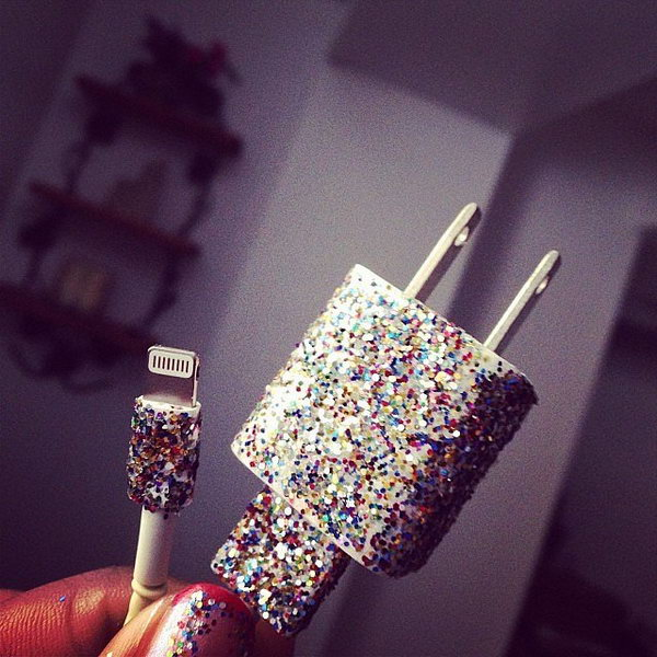 Use Different Colors of Nail Polish to Decorate Phone Chargers.