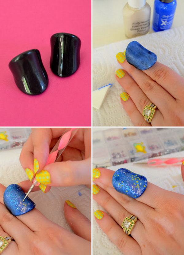 35 clever uses for nail polish that you should try 2017 galaxy nail art inspired jewelry makeover solutioingenieria Images