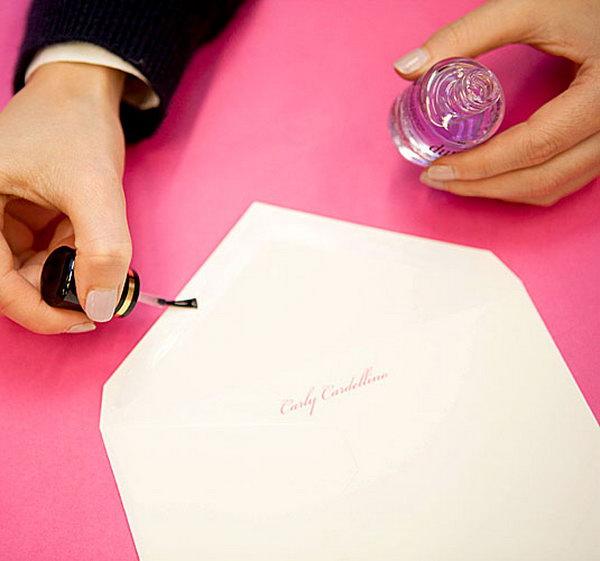 Use Nail Polish to Seal an Envelope.
