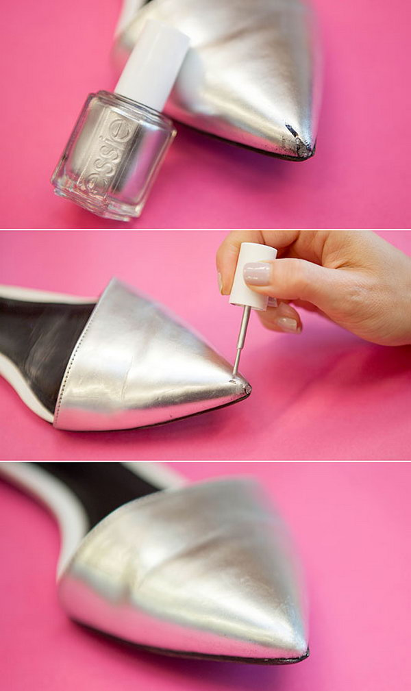 Cover Up Wear and Tear on Your Shoes with Nail Polish.